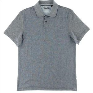 Tasso Elba light grey short sleeve polo shirt